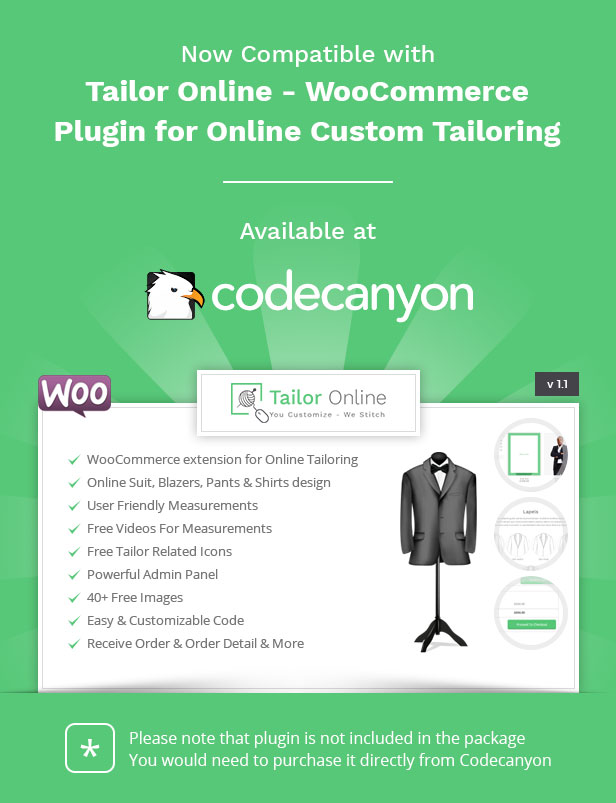 Alteration Shop - WordPress WooCommerce Theme for Tailors and Shops - 1